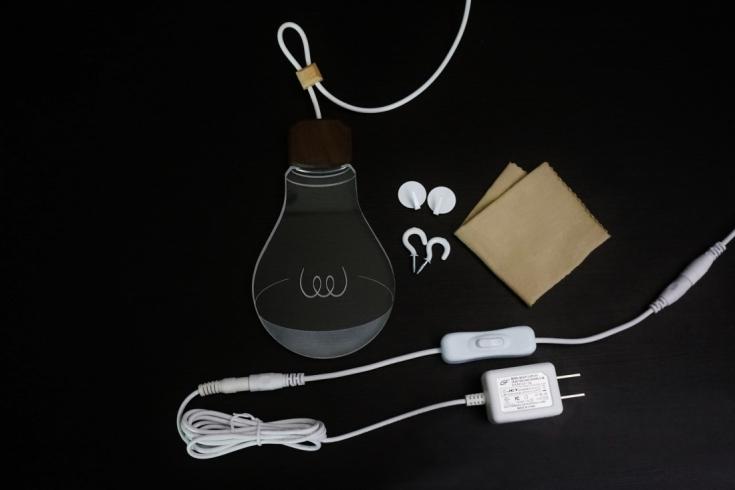 アダプターとスイッチを接続するだけで点灯します。中間スイッチで入切することができます。